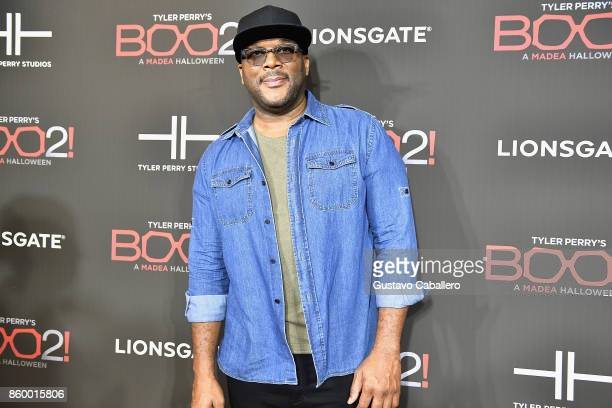 Tyler Perry attends BOO 2 Red Carpet on October 10 2017 in Miami Florida