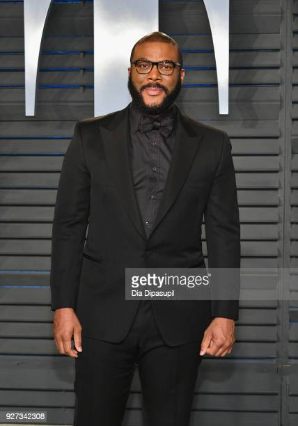 Tyler Perry attends the 2018 Vanity Fair Oscar Party hosted by Radhika Jones at Wallis Annenberg Center for the Performing Arts on March 4 2018 in...