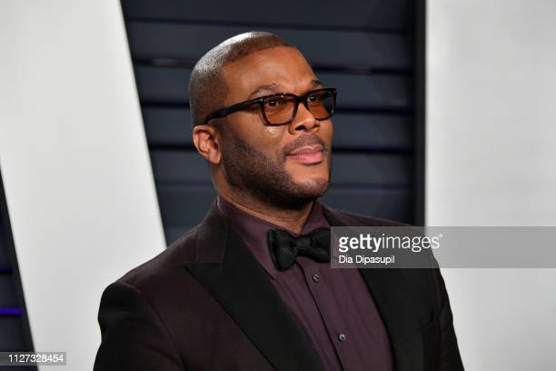 Tyler Perry attends the 2019 Vanity Fair Oscar Party hosted by Radhika Jones at Wallis Annenberg Center for the Performing Arts on February 24 2019...
