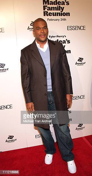 Tyler Perry during Lionsgate Presents Madea's Family Reunion Los Angeles Premiere Arrivals at Cinerama Dome in Los Angeles California United States