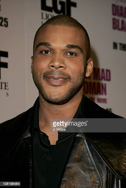 Tyler Perry during Tyler Perry's Diary of a Mad Black Woman Los Angeles Premiere Red Carpet at Arclight Hollywood in Hollywood California United...