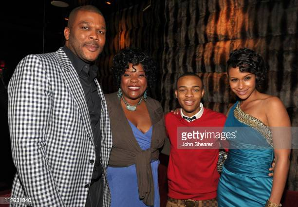 Tyler Perry Loretta Devine Bow Wow and Shannon Kane attend the party for Tyler Perry's Madea's Big Happy Family at Eden on April 19 2011 in Hollywood...