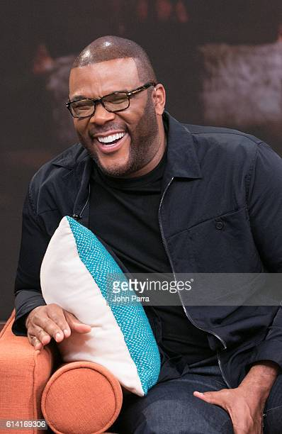Tyler Perry on the set of Univisions Despierta America in support of the film Tyler Perry's Boo A Madea Halloween at Univision Studios on October 12...
