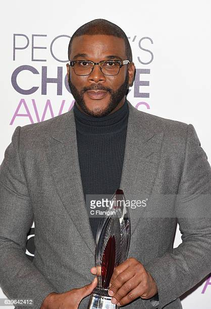 Tyler Perry poses at the People's Choice Awards 2017 at Microsoft Theater on January 18 2017 in Los Angeles California