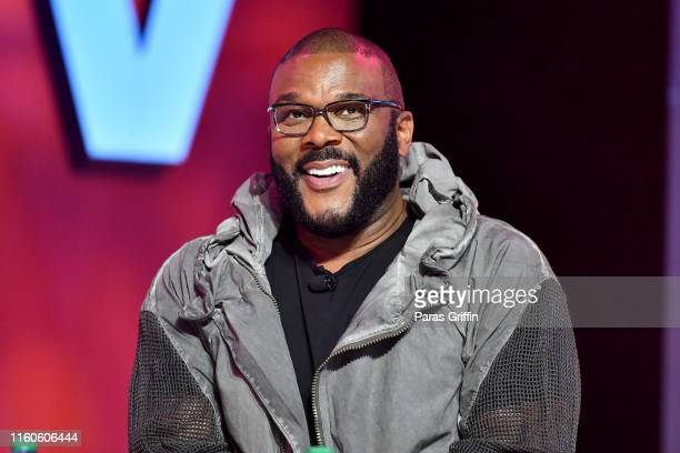 Tyler Perry speaks on stage at 2019 ESSENCE Festival Presented By CocaCola at Ernest N Morial Convention Center on July 07 2019 in New Orleans...