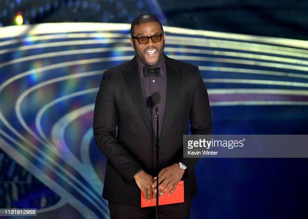 Tyler Perry speaks onstage during the 91st Annual Academy Awards at Dolby Theatre on February 24 2019 in Hollywood California
