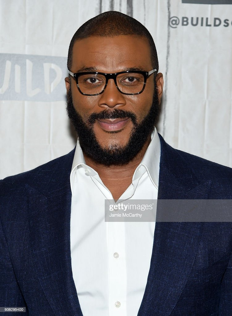Tyler Perry visits Build series to discuss their film 'Acrimony' at Build Studio on March 26, 2018 in New York City.