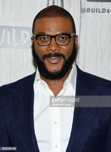 Tyler Perry visits Build series to discuss their film Acrimony at Build Studio on March 26 2018 in New York City