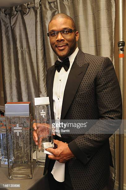 Tyler Perry visits the 2012 Tony Awards Backstage Creations Celebrity Retreat at The Beacon Theatre on June 10 2012 in New York City