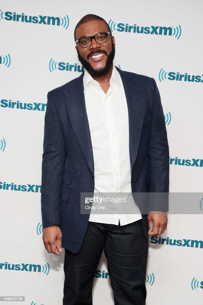 Tyler Perry visits the SiriusXM Studio on March 26, 2018 in New York City.