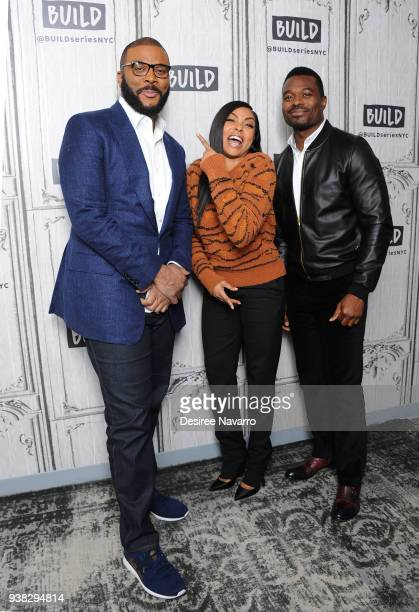 Tyler PerryTaraji P Henson and Lyriq Bent attend Build Series to discuss the film 'Acrimony' at Build Studio on March 26 2018 in New York City