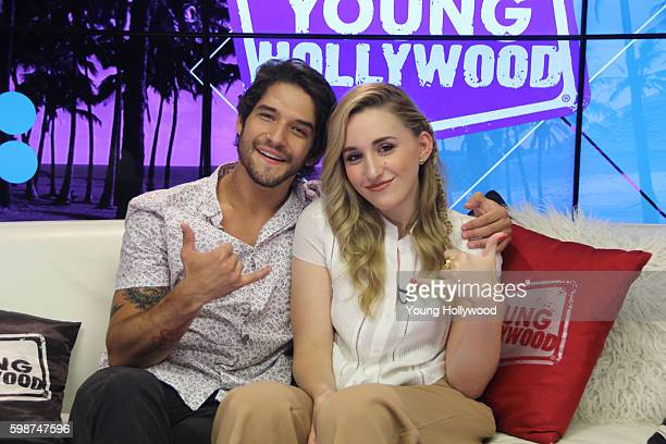 Tyler Posey and Harley Quinn Smith visits the Young Hollywood Studio on August 29 2016 in Los Angeles California