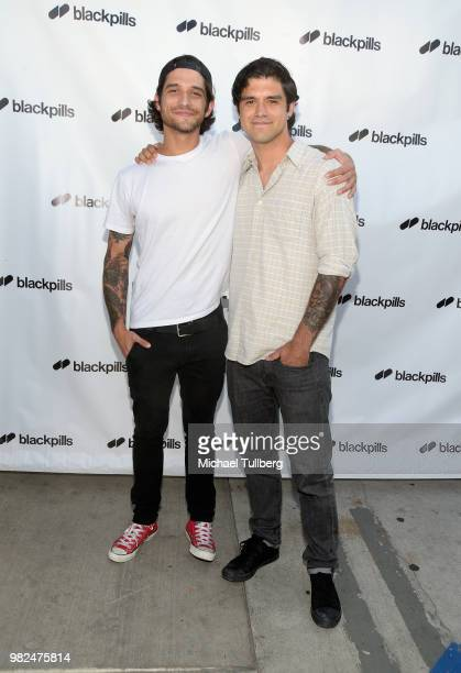 Tyler Posey and Jesse Posey attend the premiere of Blackpills and Barnstormer Productions' First Love at Zebulon on June 23 2018 in Los Angeles...