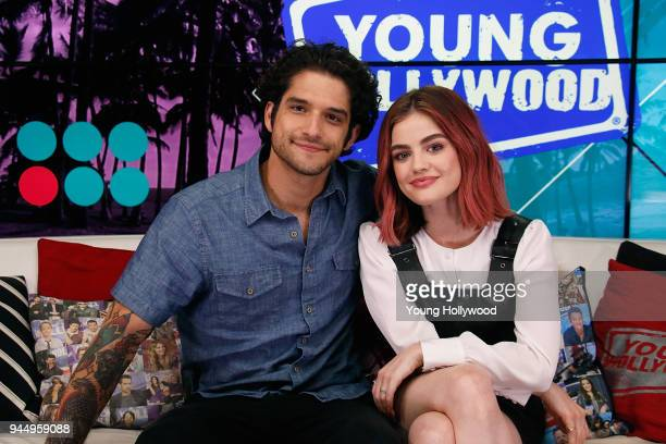 Tyler Posey and Lucy Hale visits the Young Hollywood Studio on April 11 2017 in Los Angeles California