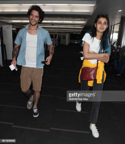 Tyler Posey and Sophia Taylor are seen on April 26, 2018 in Los Angeles, CA.