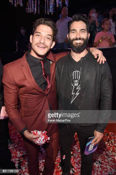 Tyler Posey and Tyler Hoechlin attend Teen Choice Awards 2017 at Galen Center on August 13 2017 in Los Angeles California