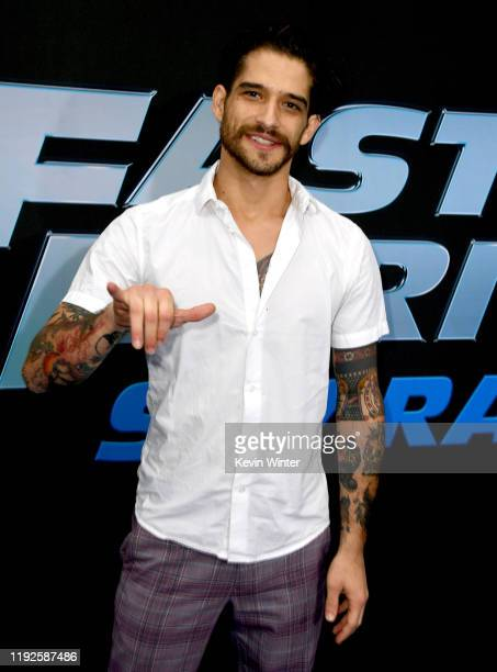 """Tyler Posey arrives at the premiere of Netflix's """"Fast And Furious: Spy Racers"""" at Universal Cinema AMC at CityWalk Hollywood on December 07, 2019 in..."""