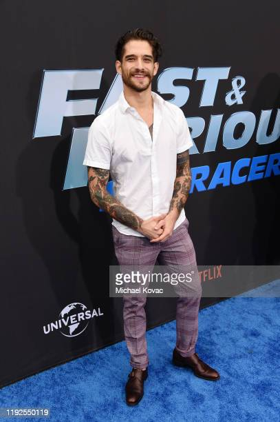 """Tyler Posey attends """"Fast & Furious: Spy Racers"""" World Premiere at Universal CityWalk on December 07, 2019 in Universal City, California."""