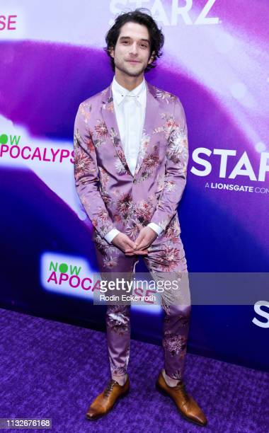 Tyler Posey attends the new Starz series Now Apocalypse premiere at Hollywood Palladium on February 27 2019 in Los Angeles California