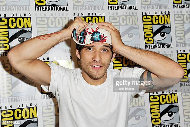 Tyler Posey attends the 'Teen Wolf' press line at Comic Con on July 21 2016 in San Diego California