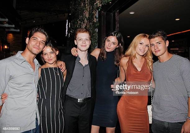 Tyler Posey Danielle Campbell Cameron Monaghan Sadie Newman Bella Thorne and Gregg Sulkin attend Monaghan's birthday dinner at The District by Hannah...