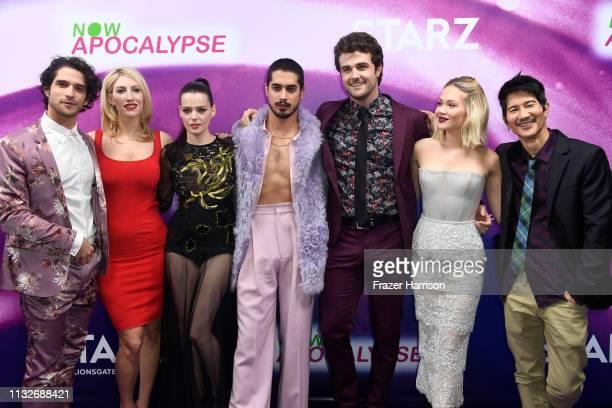 Tyler Posey Karley Sciortino Roxane Mesquida Avan Jogia Beau Mirchoff Kelli Berglund and Gregg Araki attend the 'Now Apocalypse' Los Angeles Premiere...