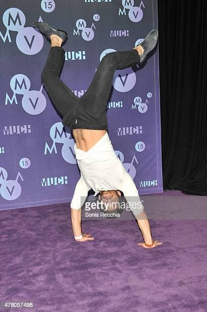 Tyler Posey poses in the press room at the 2015 MuchMusic Video Awards at MuchMusic HQ on June 21, 2015 in Toronto, Canada.
