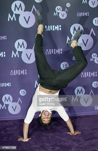 Tyler Posey poses in the press room at the 2015 MuchMusic Video Awards at MuchMusic HQ on June 21 2015 in Toronto Canada