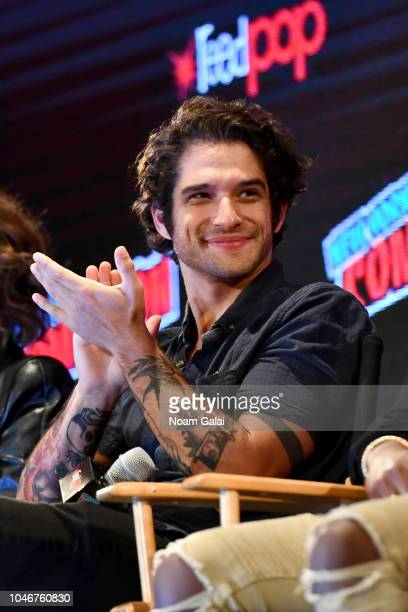 Tyler Posey speaks onstage during the Marvel Animation Presents Marvel Rising panel during New York Comic Con at Jacob Javits Center on October 6...