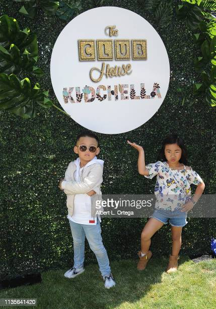 Tyler Qwest and Avery Russo arrive for Clubhouse Kidchella held at Pershing Square on April 6 2019 in Los Angeles California