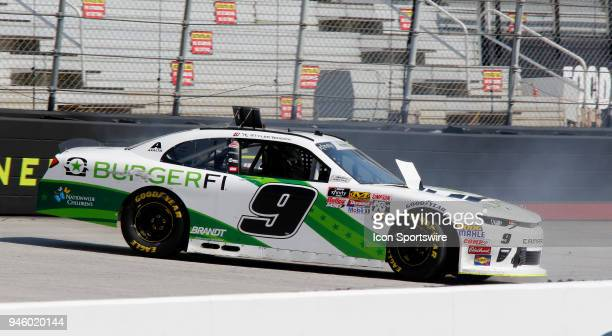 Tyler Reddick JR Motorsports Chevrolet Camaro BurgerFi spins during practice for the 36th annual Fitzgerald Glider Kits 300 on Friday April 13 2018...