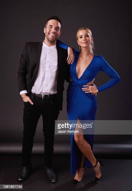 Tyler Rich and Sabina Gadecki attend Big Machine Label Group Celebrates the 52nd Annual CMA Awards in Nashville at FGL House on November 14 2018 in...