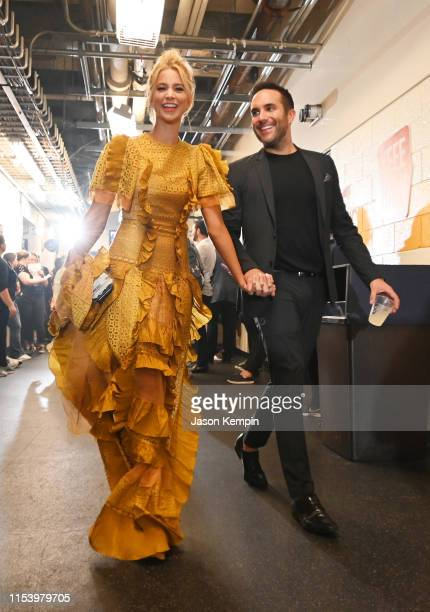 Tyler Rich and Sabina Gadecki attend the 2019 CMT Music Awards at Bridgestone Arena on June 05 2019 in Nashville Tennessee