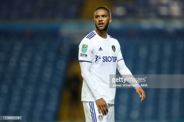 Tyler Roberts of Leeds United during the Carabao Cup Second Round match between Leeds United and Hull City at Elland Road on September 16, 2020 in...