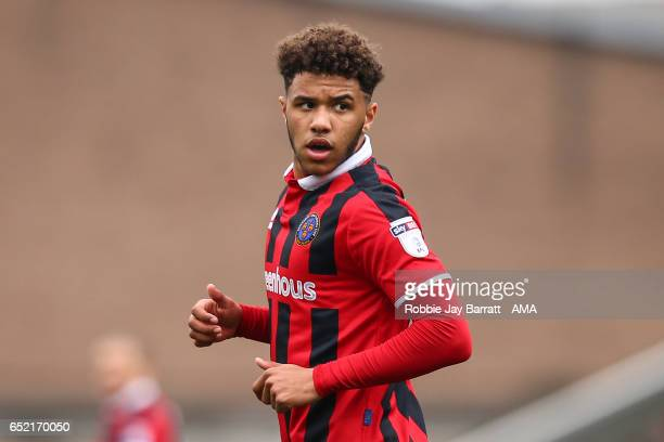 Tyler Roberts of Shrewsbury Town during the Sky Bet League One match between Chesterfield and Shrewsbury Town at Proact Stadium on March 11 2017 in...