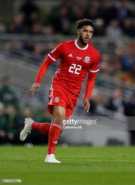 Tyler Roberts of Wales during the UEFA Nations League B group four match between Ireland and Wales at Aviva Stadium on October 16 2018 in Dublin...