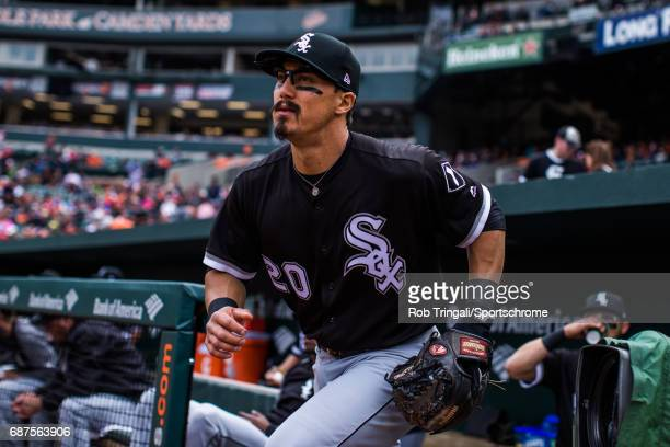 Tyler Saladino of the Chicago White Sox looks on during the game against the Baltimore Orioles at Camden Yards on May 7 2017 in Baltimore Maryland