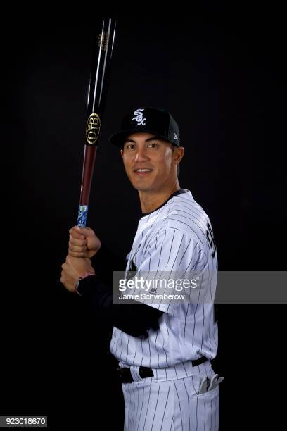 Tyler Saladino of the Chicago White Sox poses during MLB Photo Day on February 21 2018 in Glendale Arizona