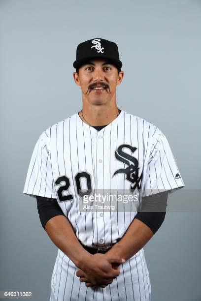 Tyler Saladino of the Chicago White Sox poses during Photo Day on Thursday February 23 2017 at Camelback Ranch in Glendale Arizona