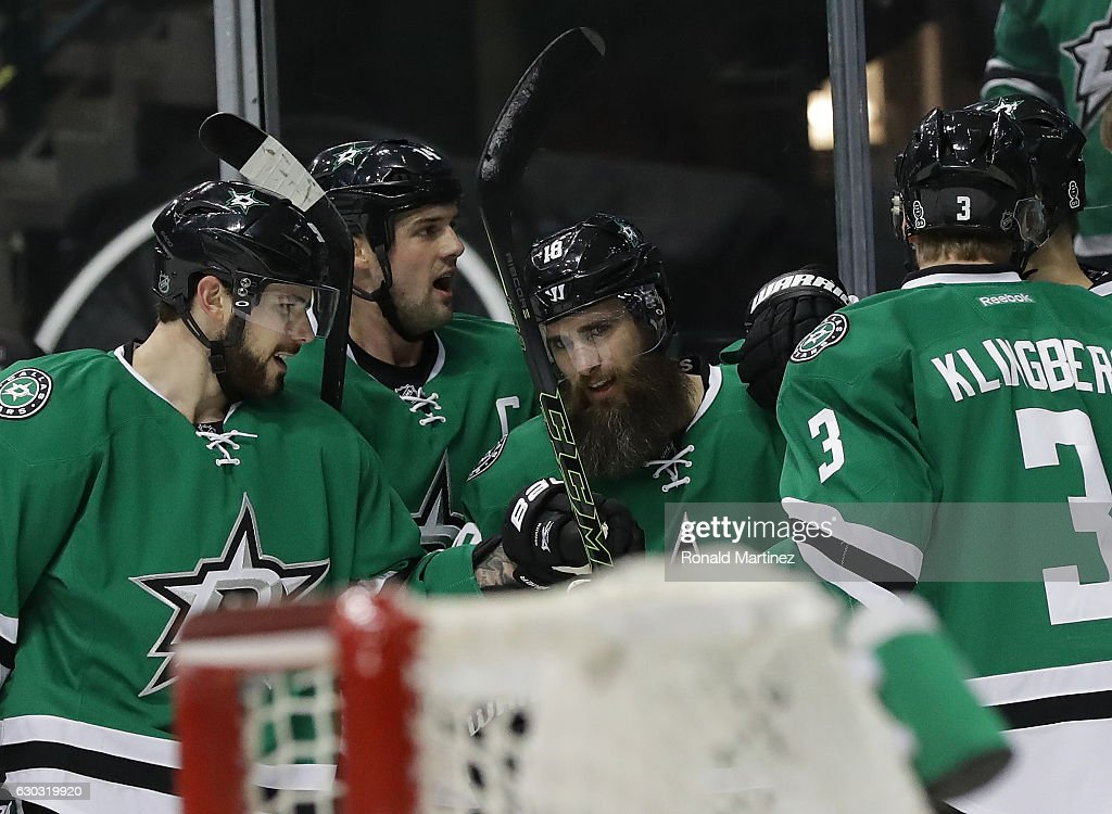 new product 88713 c3c27 Tyler Seguin, Jamie Benn and Patrick Eaves of the Dallas ...