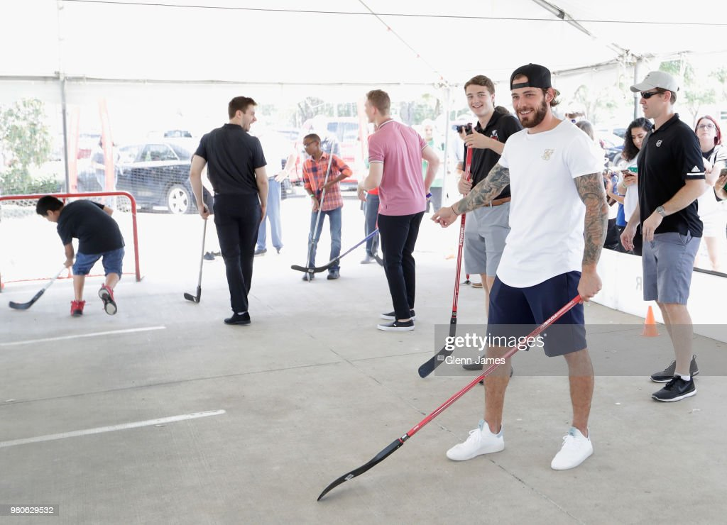 2018 NHL Draft - Ball Hockey With The Dallas Stars & Boys And Girls Club