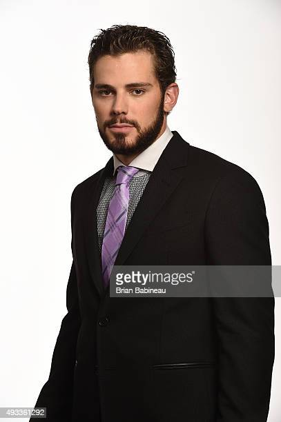 Tyler Seguin of the Dallas Stars poses for a portrait at the NHL Player Media Tour at the Ritz Carlton on September 8 2015 in Toronto Ontario