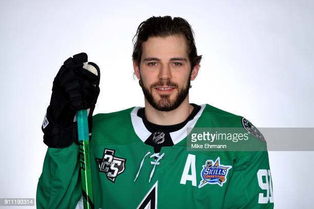 Tyler Seguin of the Dallas Stars poses for a portrait during the 2018 NHL AllStar at Amalie Arena on January 27 2018 in Tampa Florida