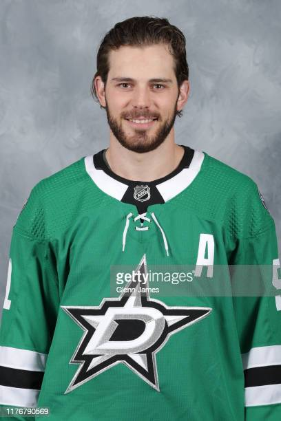 Tyler Seguin of the Dallas Stars poses for his official headshot for the 2019-2020 season on September 12, 2019 at the Comerica Center in Frisco,...