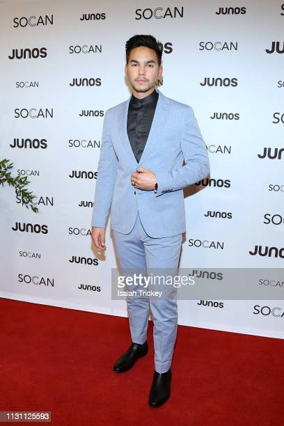 Tyler Shaw arrives on the red carpet for the 2019 Juno Gala Dinner and Awards at the London Convention Centre on March 16, 2019 in London, Canada.