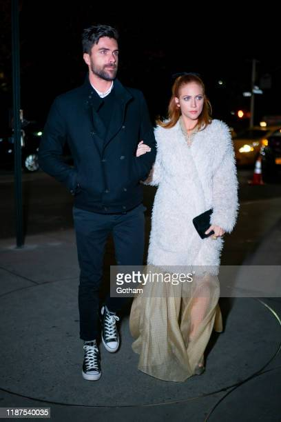 Tyler Stanaland and Brittany Snow attend the 2019 Guggenheim International Gala on November 13 2019 in New York City