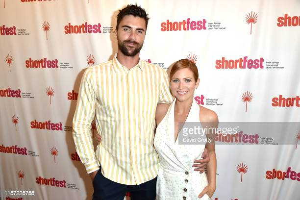 Tyler Stanaland and Brittany Snow attend the 25th Annual Palm Springs International ShortFest Day 3 at Camelot Theatres on June 20 2019 in Palm...
