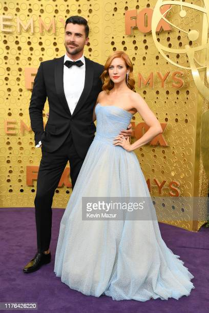 Tyler Stanaland and Brittany Snow attend the 71st Emmy Awards at Microsoft Theater on September 22, 2019 in Los Angeles, California.