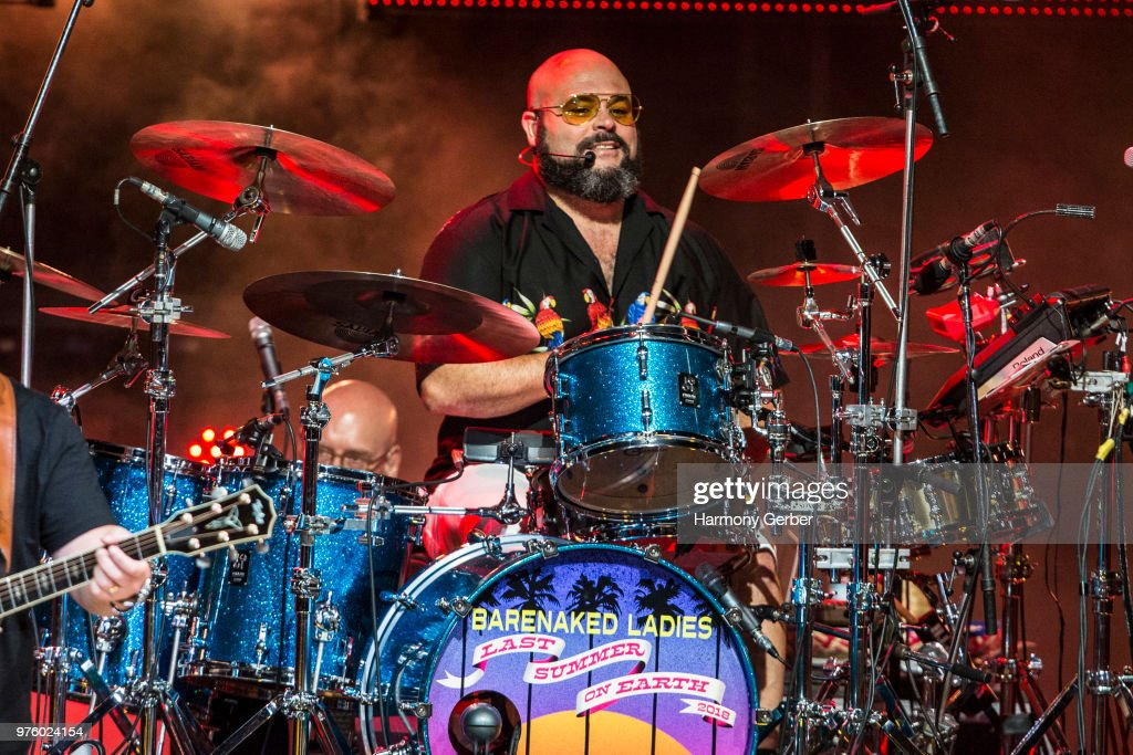 Tyler Stewart of the band Barenaked Ladies performs at The Greek Theatre on June 15, 2018 in Los Angeles, California.