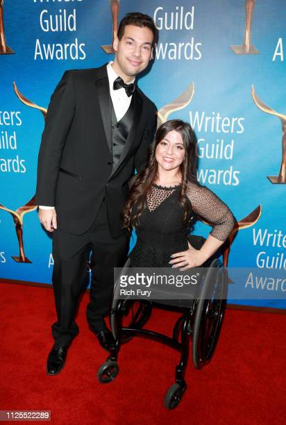 Tyler Straessle and Jennifer Bricker attend the 2019 Writers Guild Awards LA Ceremony at The Beverly Hilton Hotel on February 17 2019 in Beverly...